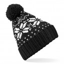 Czapka Fair Isle Snowstar - B456 - Black/White