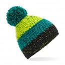 czapka zimowa - mod. B436 citron/emerald/black