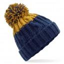 czapka zimowa - mod. B437 azure blue / oxford navy
