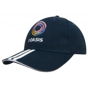 4074- czapka z haftem